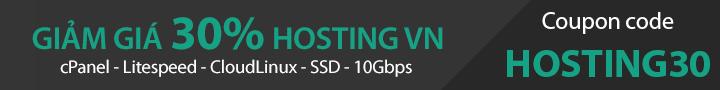Khuyến mãi 30% hosting