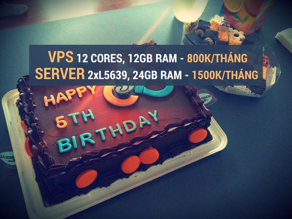 VPS, Server giá rẻ mừng sinh nhật lần thứ 5 của FTECH.VN